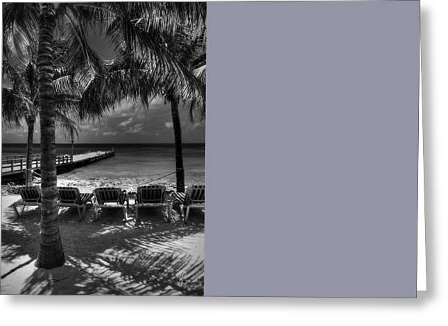 Grand Turk Vacation 002 Bw Greeting Card by Lance Vaughn