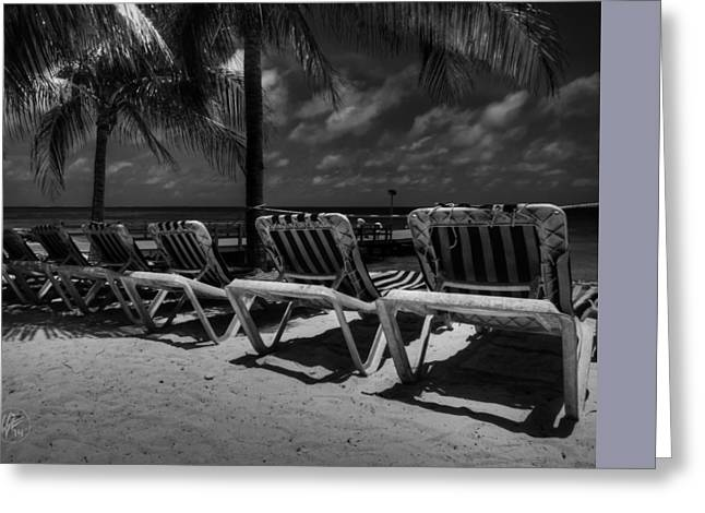 Grand Turk Vacation 003 Bw Greeting Card by Lance Vaughn