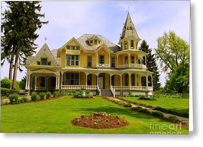 Greeting Card featuring the photograph Grand Yellow Victorian by Becky Lupe