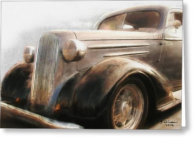 Granddads Classic Car Greeting Card