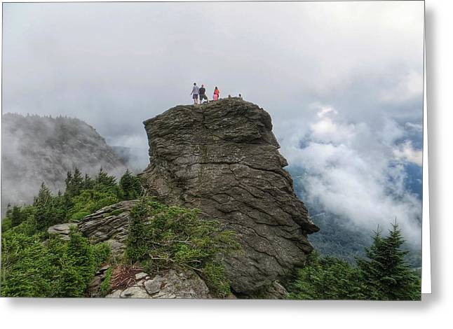 Grandfather Mountain Hikers Greeting Card
