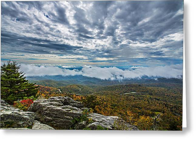 Grandfather Mountain Greeting Card by John Haldane