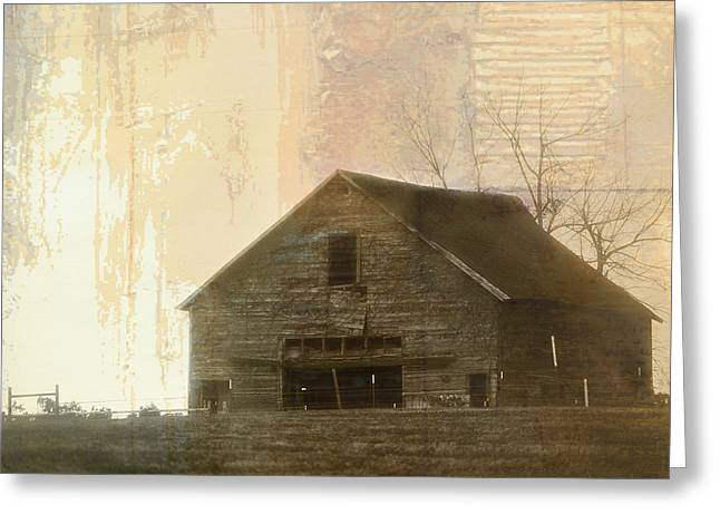 Grandfather's Barn Greeting Card by Lena Wilhite