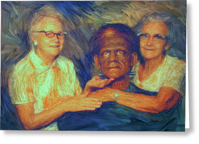 Grandma And Aunt With Frank Greeting Card