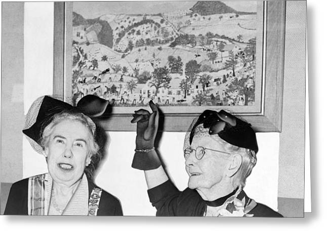 Grandma Moses Greeting Card by Roger Higgins