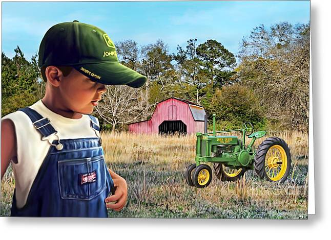 Grandma Say Nothin Runs Like A Deere Greeting Card
