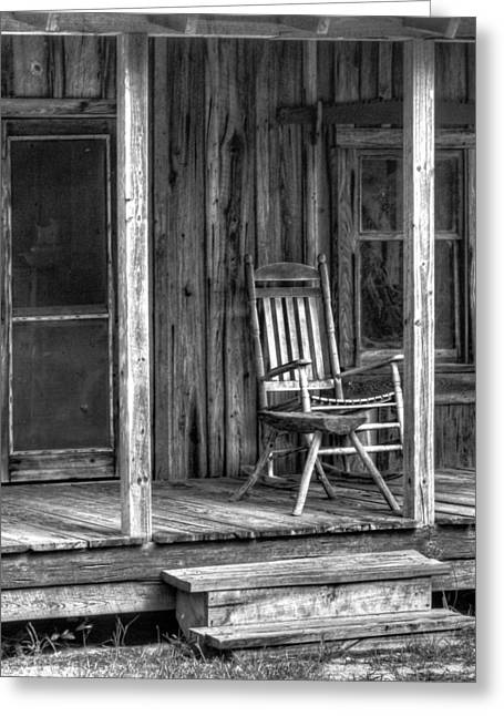 Greeting Card featuring the photograph Grandma's Rocker by Dawn Currie