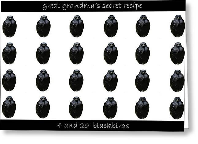 Grandmas Secret Recipe Greeting Card by Jennifer Muller