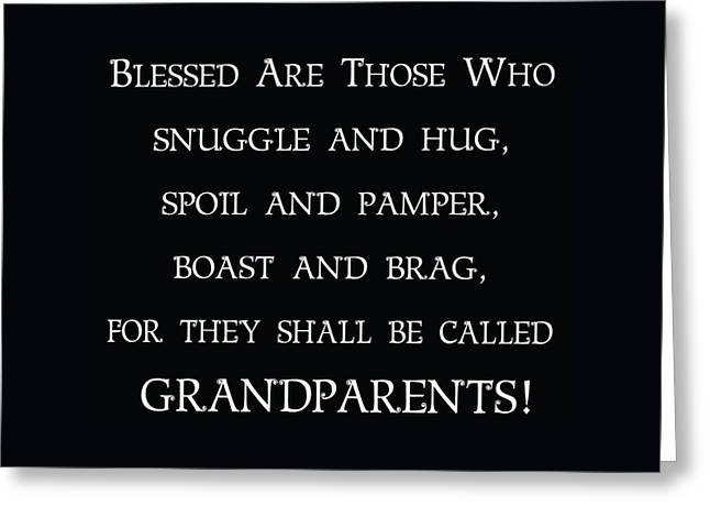 Greeting Card featuring the digital art Grandparents by Jaime Friedman