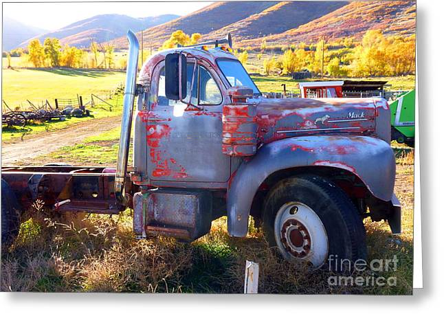 Greeting Card featuring the photograph Grandpa's Mack Truck by Jackie Carpenter