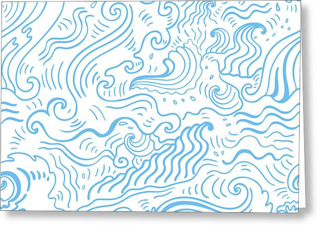 Grange Sea Background. Seamless Greeting Card