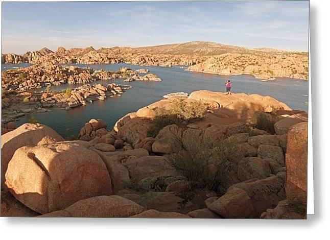Granite Dells Panoramic 2 Greeting Card by Tam Ryan