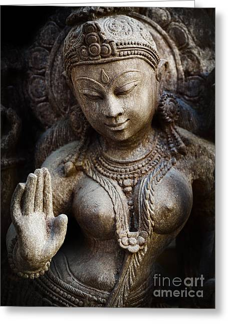 Granite Indian Goddess Greeting Card