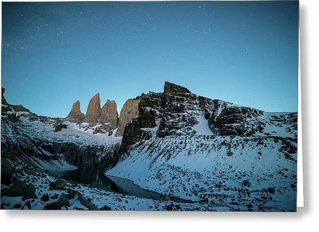 Granite Peaks Of Torres Del Paine Greeting Card by Jordi Busque