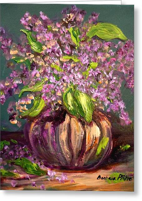 Granny Mabry's Lilacs Greeting Card by Barbara Pirkle