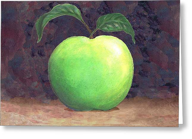 Granny Smith Apple Two Greeting Card by Linda Mears