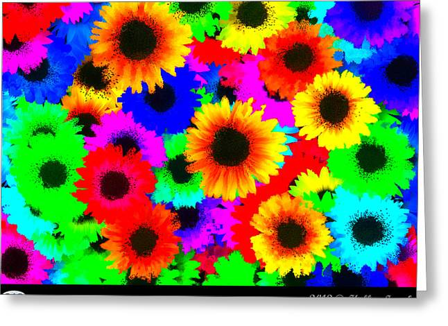 Granny's Garden Colorful Greeting Card by Holley Jacobs