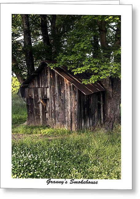 Granny's Smokehouse Greeting Card by Terry Spencer