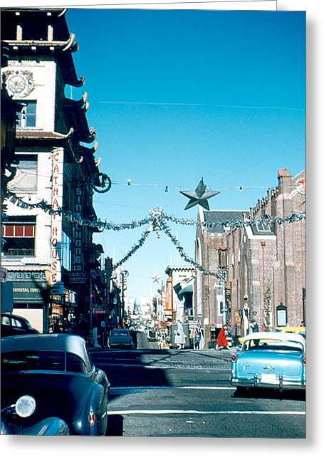 Grant Street 1956 Greeting Card by Cumberland Warden