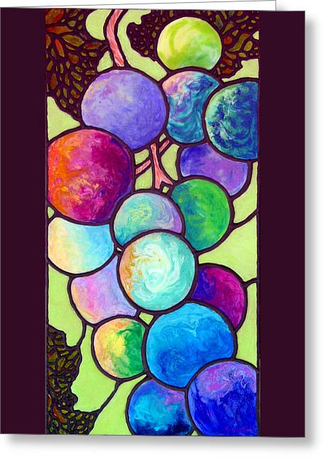 Grape De Chine Greeting Card