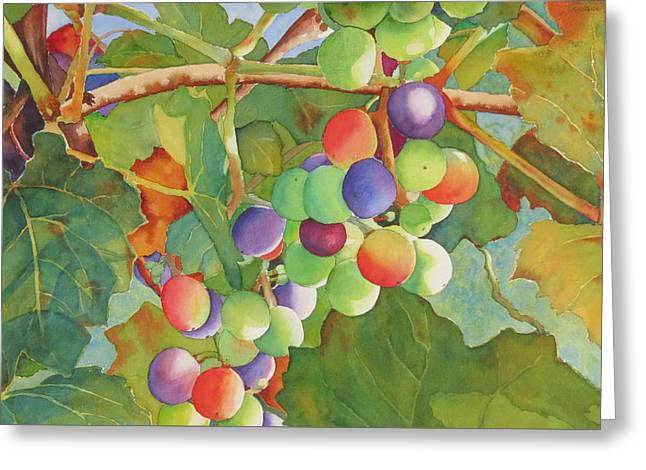 Grape Fusion Greeting Card
