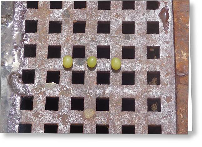 Greeting Card featuring the photograph Grape N Grate Still-life by Christina Verdgeline