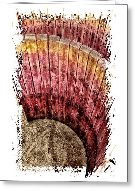 Grape Stains Greeting Card by Claire Hull