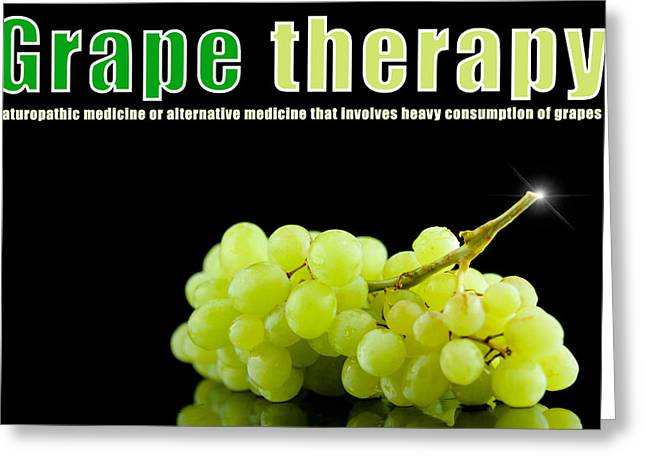 Grape Therapy Greeting Card