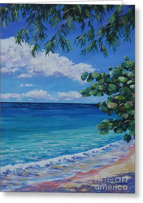 Grape Tree On 7-mile Beach Greeting Card by John Clark