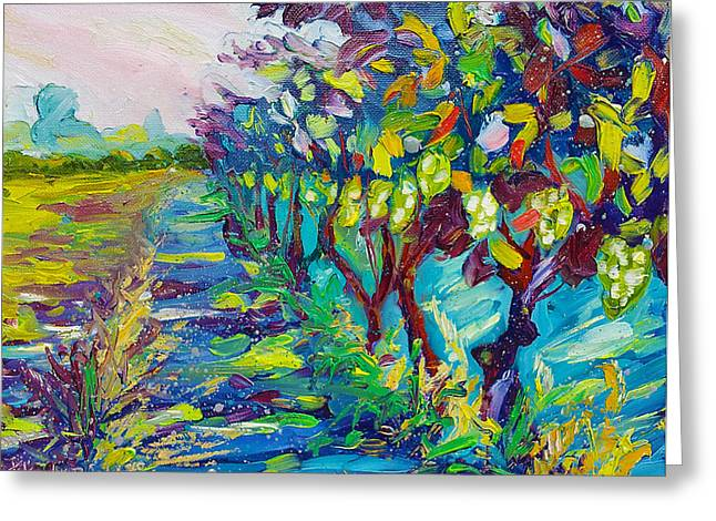 Grape Vines Painting Greeting Card