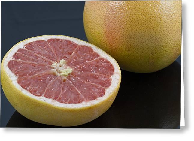 Grapefruit Greeting Card by Malisa Nicolau