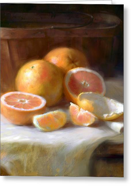 Grapefruit Greeting Card by Robert Papp