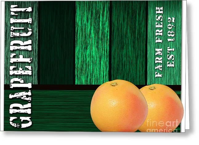 Grapefruit Sign Greeting Card by Marvin Blaine