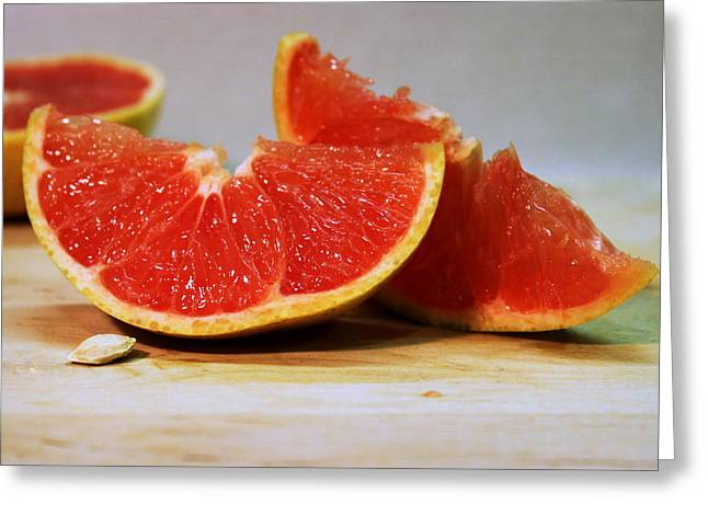 Grapefruit Slices Greeting Card by Joseph Skompski