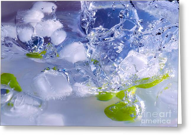 Grapes And Ice Greeting Card by Sinisa Botas