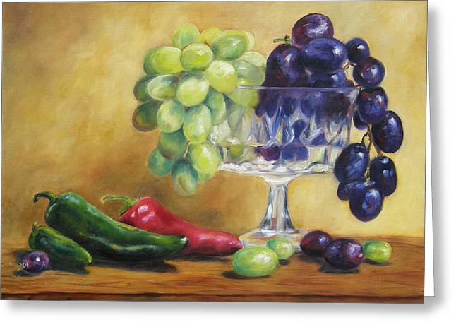 Grapes And Jalapenos Greeting Card