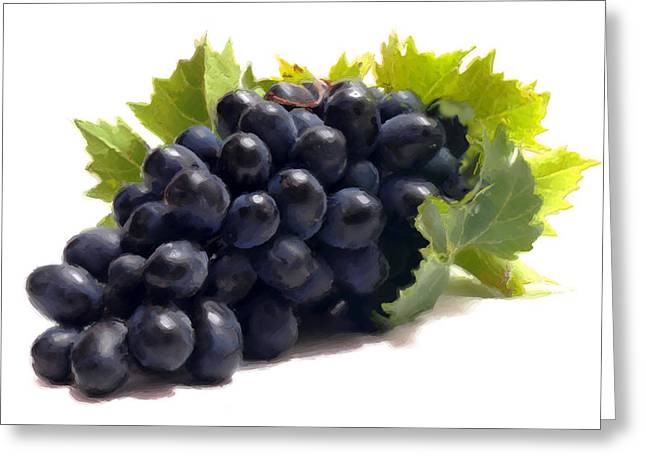 Grapes Greeting Card by David Blank