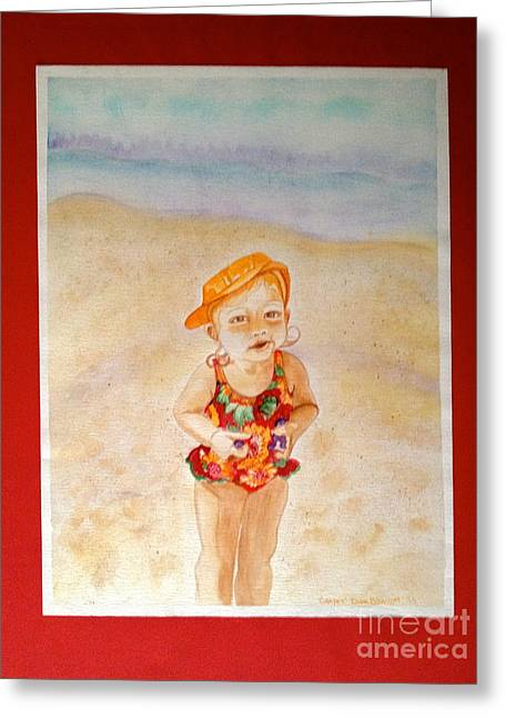 Grapes Greeting Card by Diane Phelps