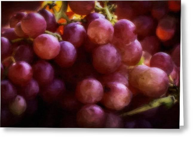 Grapes Greeting Card by F Leblanc
