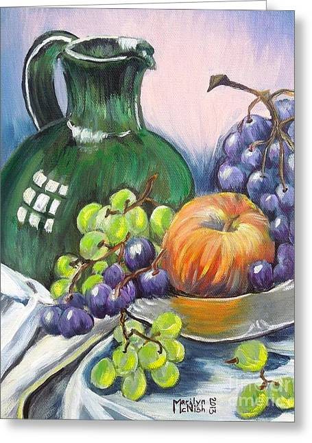 Grapes Galore Greeting Card by Marilyn  McNish