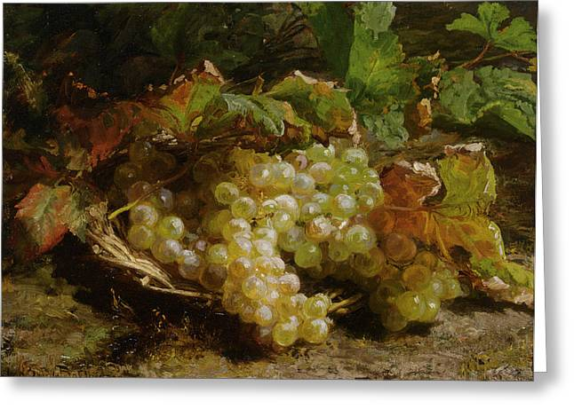 Grapes In A Basket Greeting Card