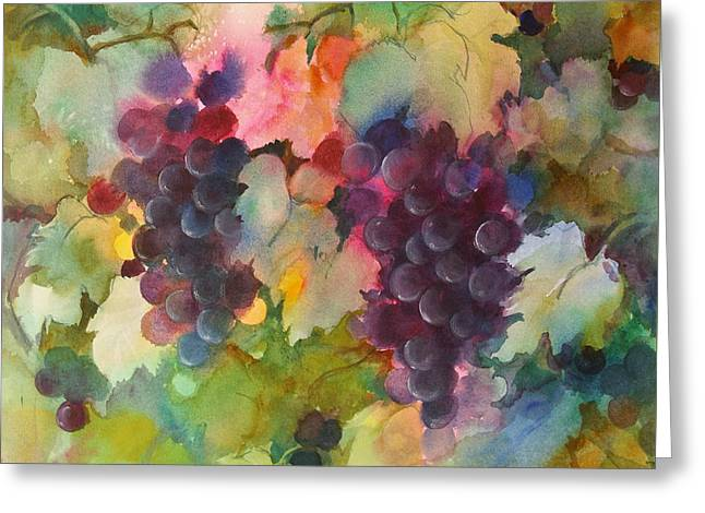 Grapes In Light Greeting Card by Michelle Abrams