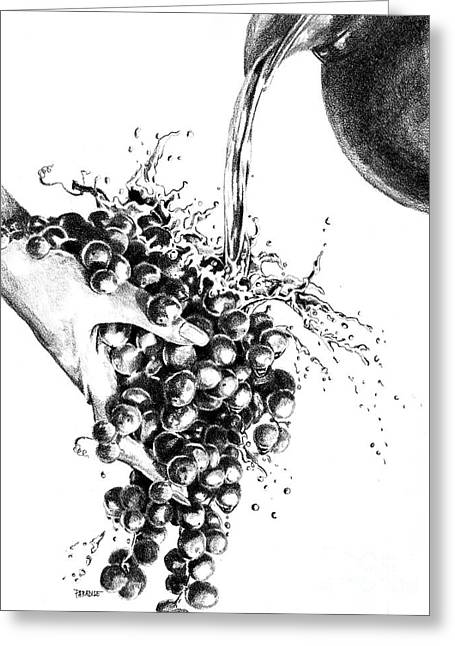 Grapes Greeting Card by Sandra Paradise