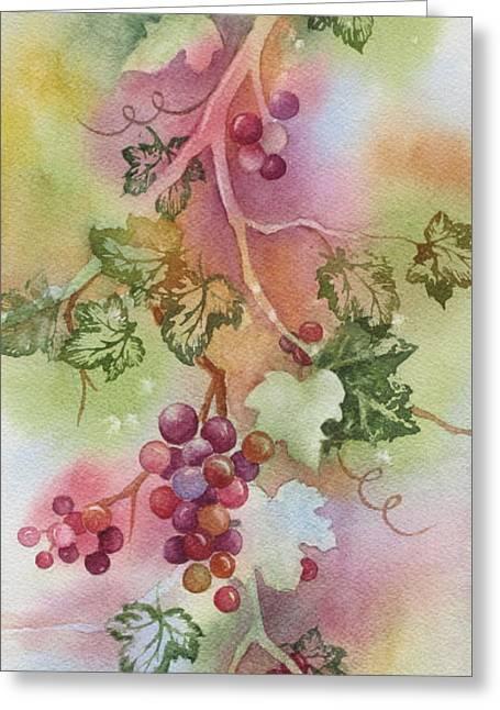 Grapevine Greeting Card by Deborah Ronglien