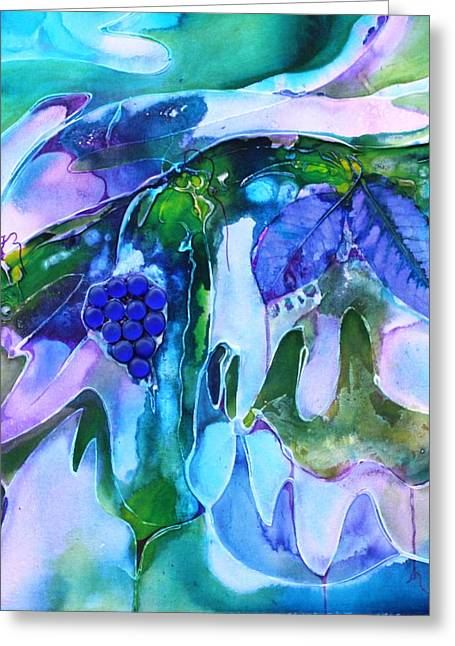 Grapevine Twist Greeting Card by Pat Purdy