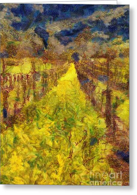 Grapevines And Mustard Greeting Card