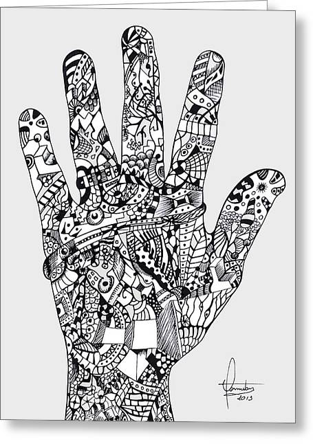 Graphic Hand Greeting Card