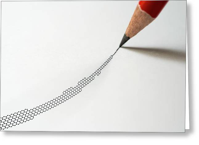 Graphite Pencil And Graphene Greeting Card by Robert Brook