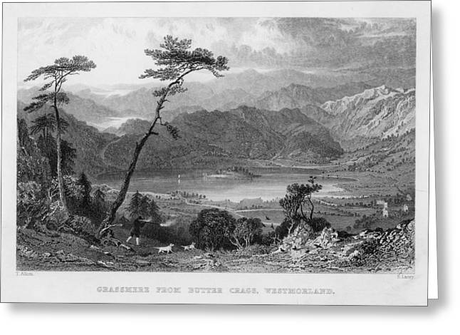 Grasmere Lake From Butter  Crags Greeting Card