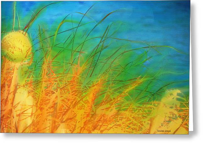 Grass Along The River Greeting Card